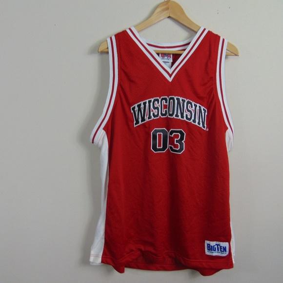 pretty nice cf9b1 61618 UW Wisconsin Badgers Men XL Sewn Basketball Jersey